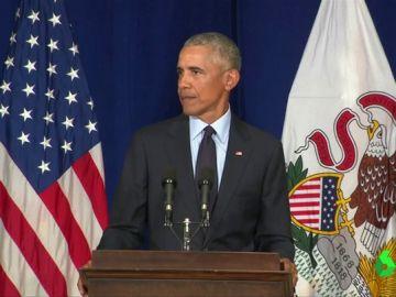 Obama durante un acto político