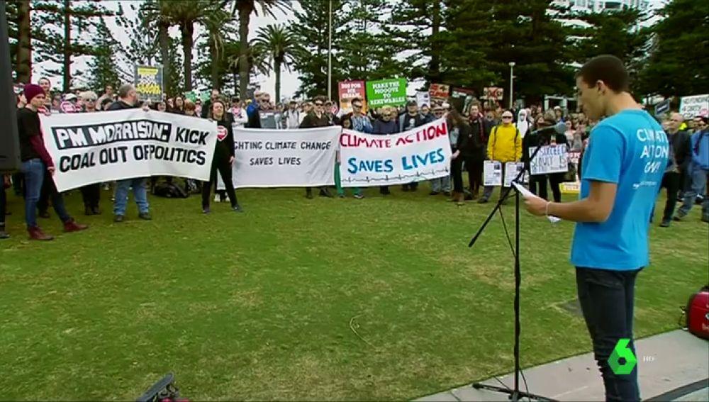 Manifestación internacional por un planeta libre de combustibles fósiles