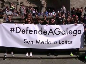Manifestación en Galicia en contra de la manipulación informativa