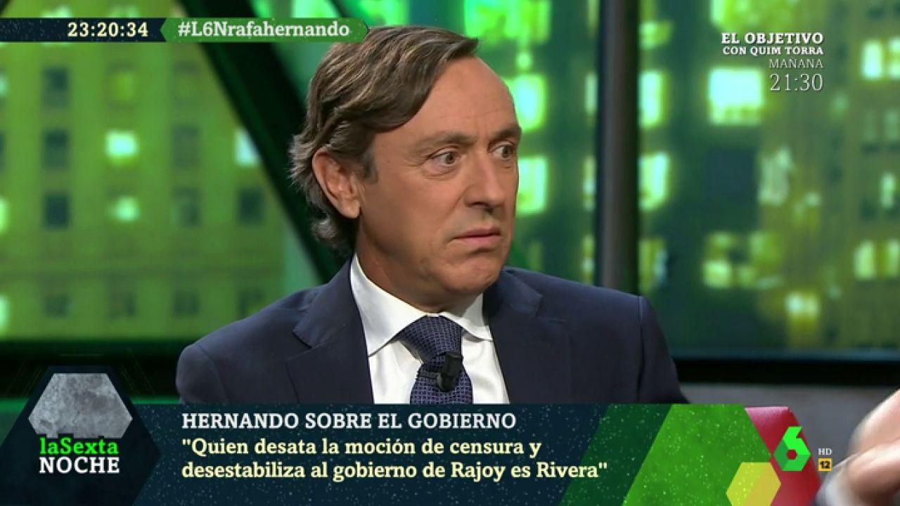 Rafael Hernando Quien Desata La Moción De Censura Y Desestabiliza Al Gobierno De Rajoy Es Rivera