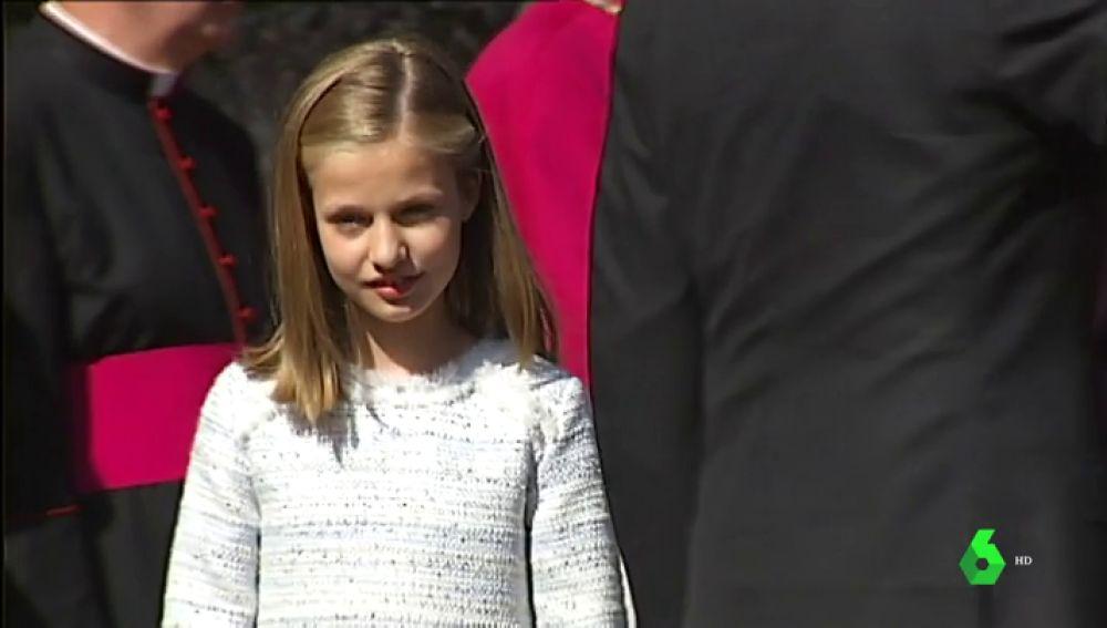 La princesa Leonor en su estreno como heredera al trono en Asturias