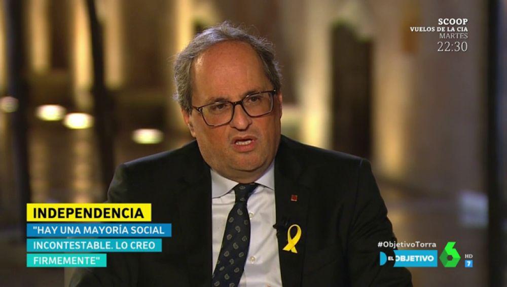 """Quim Torra: """"Hemos alzado la bandera del diálogo porque ha aparecido el Gobierno de Pedro Sánchez"""""""