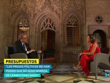 """Quim Torra: """"No acepto las sentencias porque creo que hay un 80% de catalanes que no las aceptan y yo apelo a las conciencias de la gente"""""""