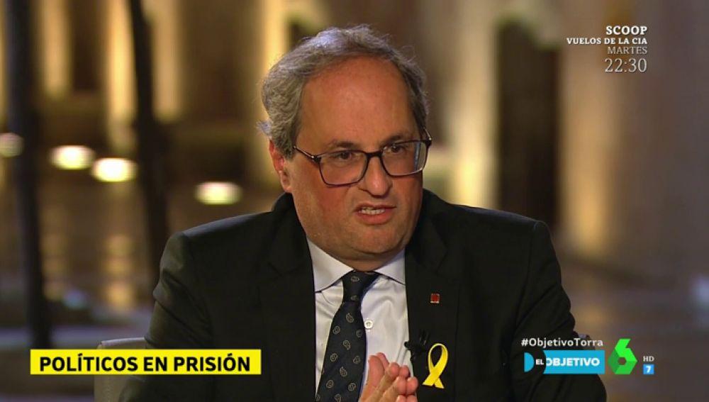 """Quim Torra: """"Cada día que nuestros presos políticos están en la cárcel es un acto de venganza para ellos y sus familias"""""""
