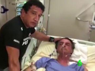 Jair Bolsonaro, candidato a la presidencia de Brasil, en el hospital
