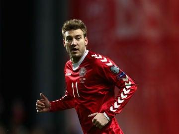 Bendtner, con Dinamarca