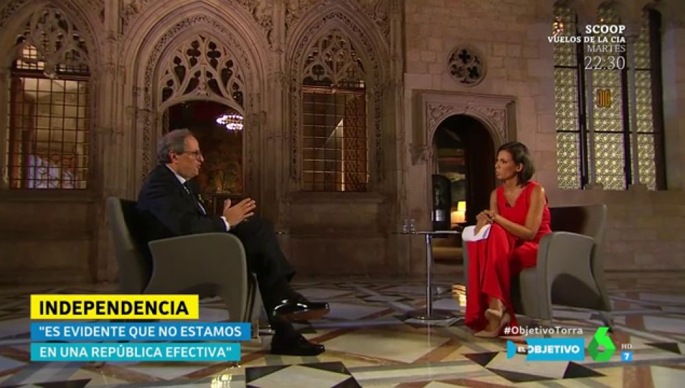 Quim Torra, con Ana Pastor en El Objetivo