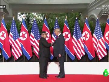 Donald Trump y Kim Jon Un se encuentran