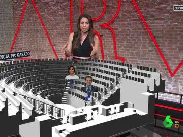 La realidad aumentada llega Al Rojo Vivo: el baile de sillas de Santamaría en el Congreso hasta a acabar lejos de Casado