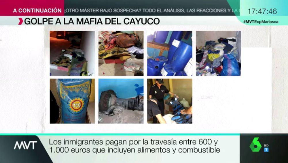Casi 1.000 euros por mantas, chalecos, aceite para motor y comida: el pack que las mafias ofrecen a los migrantes