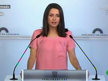 Inés Arrimadas comparece en una rueda de prensa