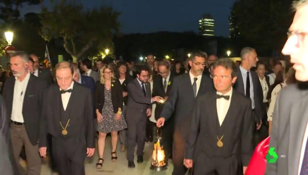 "Torra y Torrent encabezan una ""marcha por la libertad"""