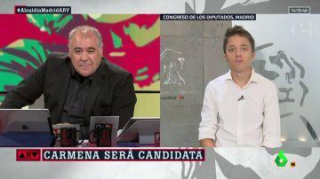 """Íñigo Errejón celebra la candidatura de Carmena a la alcaldía: """"Para mí Manuela es un referente personal y político, es algo muy inspirador"""""""