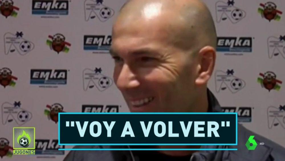 """Zidane: """"Pronto volveré a entrenar"""