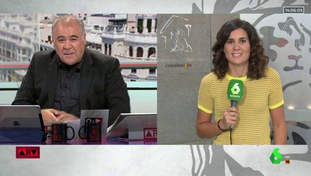 """Ferreras felicita durante un directo a María Llapart: """"Excelente trabajo el de este verano"""""""