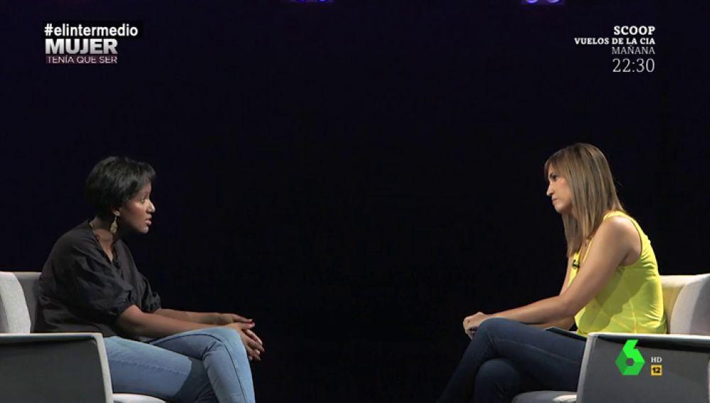 Hayat Traspas Ismail con Sandra Sabatés