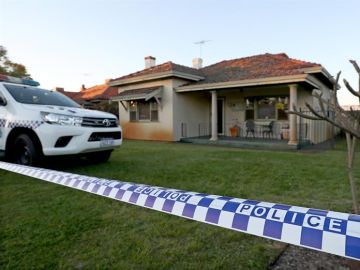 La casa en la que fueron hallados los cadáveres en Perth, Australia