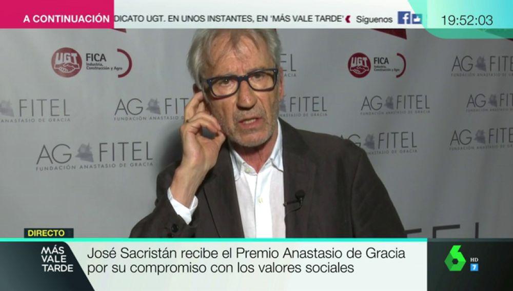 """José Sacristan: """"Tengo una idea del sentido de la justicia, y procuro defenderla"""""""