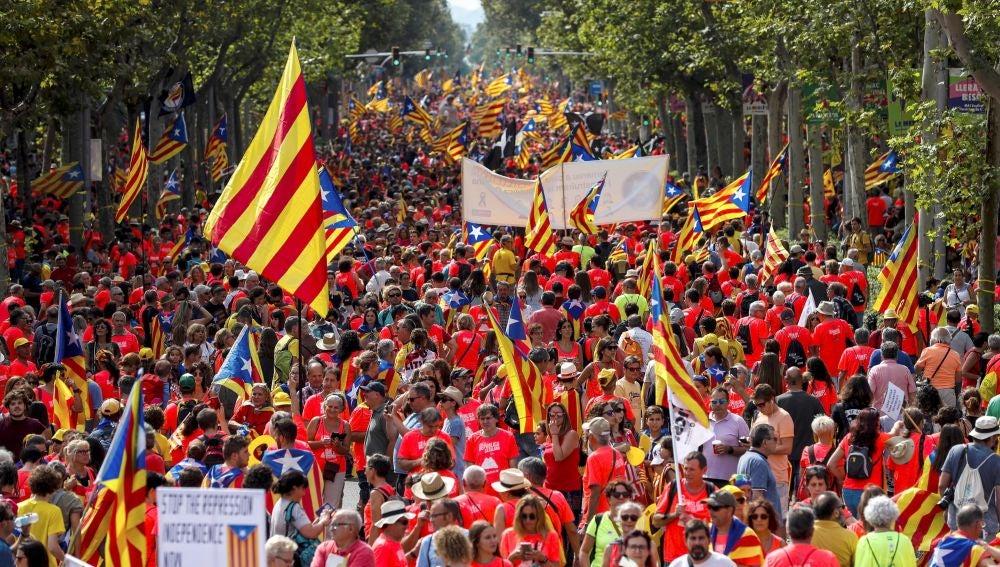 Ambiente previo a la manifestación independentista