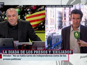 """Raphael Minder, sobre la celebración de la Diada: """"Hoy no se habla tanto de independencia, se habla más de los presos políticos"""""""