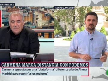 """Ramón Espinar, sobre la agrupación de electores de Carmena: """"Es la alcaldesa de Madrid y tiene que tener autonomía en la formación de su equipo"""""""