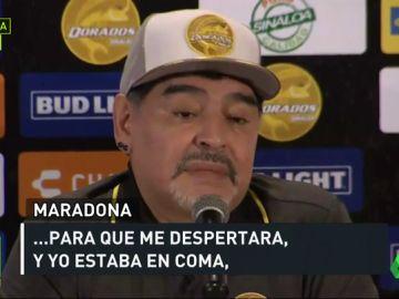 Diego Armando Maradona contó sus peores momentos del pasado en México