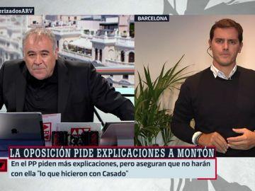 """Rivera compara los máster de Casado y Montón: """"Afectan a las corruptelas en la universidad y al trato de favor por estar afiliado a un partido"""""""