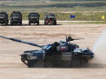 Soldados rusos durante unas maniobras militares