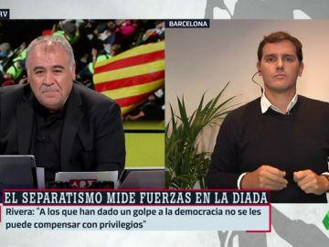 """Albert Rivera, el día de la Diada en Cataluña: """"Soy catalán pero no quiero privilegios para mi tierra"""""""