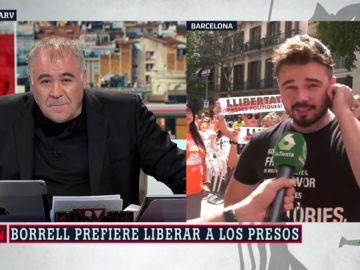 """Rufián responde a la opinión de Borrell sobre los presos catalanes: """"Celebro que deje de hacer de militante de extrema derecha y haga de ministro"""""""
