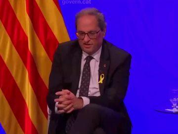 """Torra habla ante medios extranjeros: """"Los que están en prisión son los que organizaron el referéndum, no los que ejercieron la violencia el 1-O"""""""