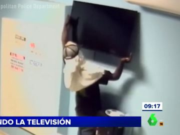 Intento de robo de una televisión en EEUU