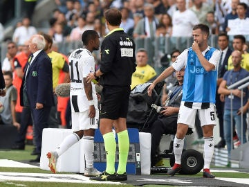 Douglas Costa, en el partido ante el Sassuolo