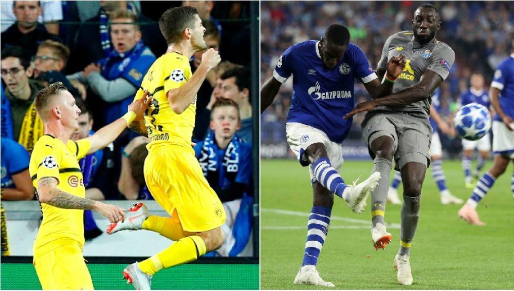Dos momentos del Brujas-Dortmund y el Schalke-Oporto