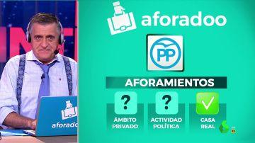 El Intermedio presenta 'Aforadoo': los 'packs' favoritos de los políticos para suprimir los aforamientos