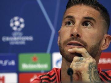 Sergio Ramos en rueda de prensa
