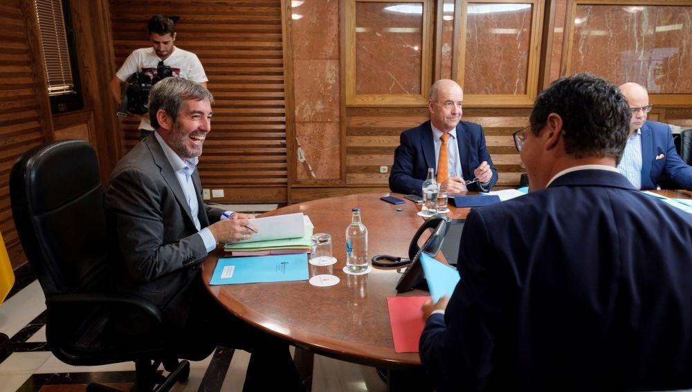 Fernando Clavijo en una reunión del Consejo de Gobierno en Las Palmas de Gran Canaria