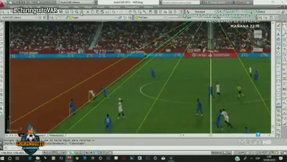 El Chiringuito 'desmonta' el VAR: Ben Yedder estaría en línea en su gol anulado ante el Getafe