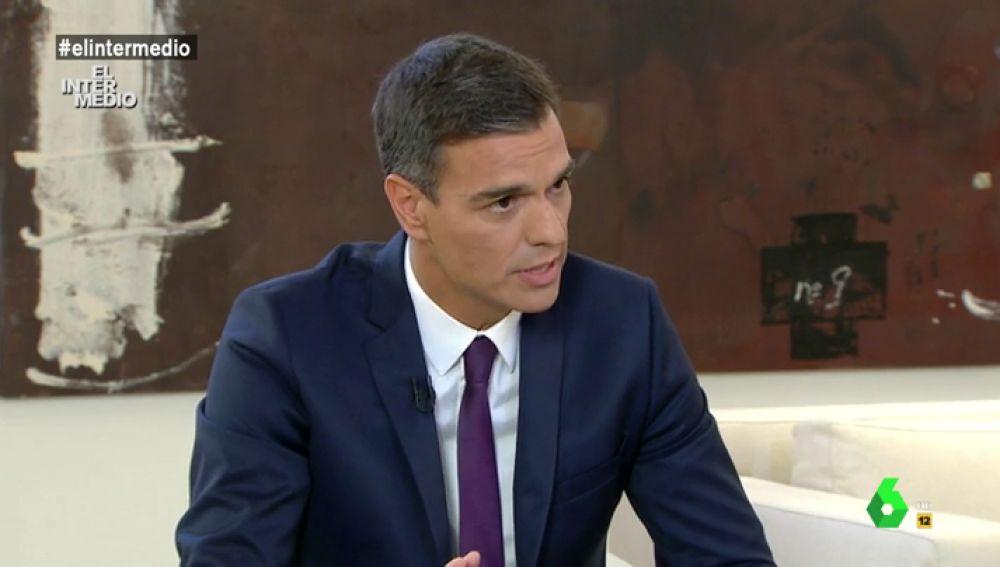 Pedro Sánchez en su entrevista con Ana Pastor