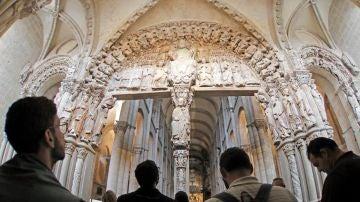 Vista del pórtico de la Gloria de la Catedral de Santiago