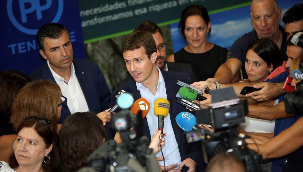 Pablo Casado en una imagen de archivo ante los medios de comunicación