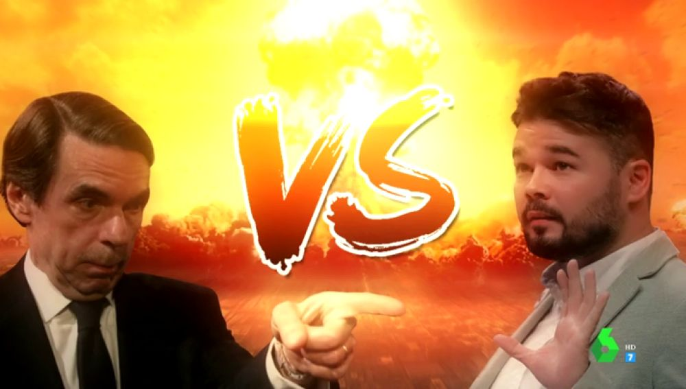 Rufián vs Aznar