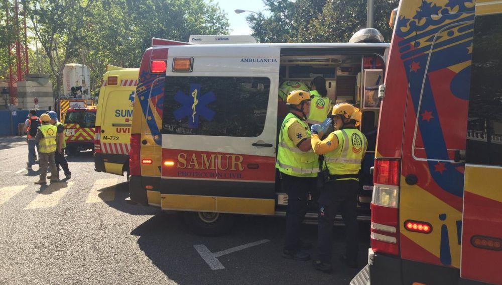 Ambulancias en los alrededores del Ritz