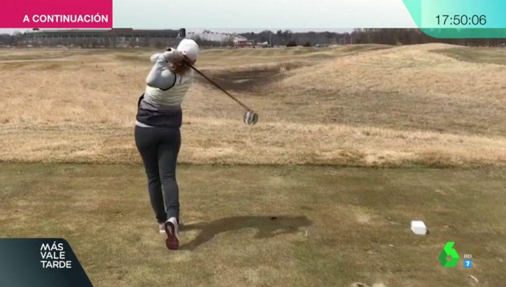La golfista Celia Barquín