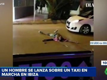 El turista que se lazó contra un coche en marcha
