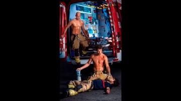 Imagen del calendario de bomberos 2019