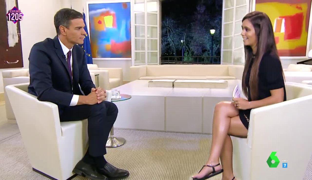 Cristina Pedroche entrevista a Pedro Sánchez