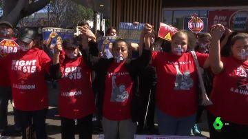 Las trabajadoras de McDonalds en huelga