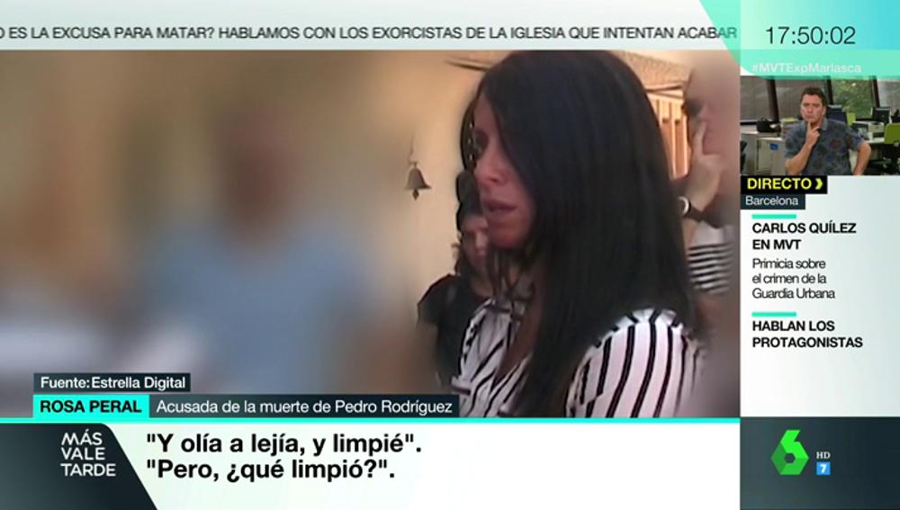 Rosa Peral explicándose en la reconstrucción