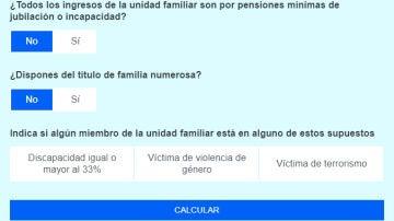 Imagen del calculador del bono social de Civio